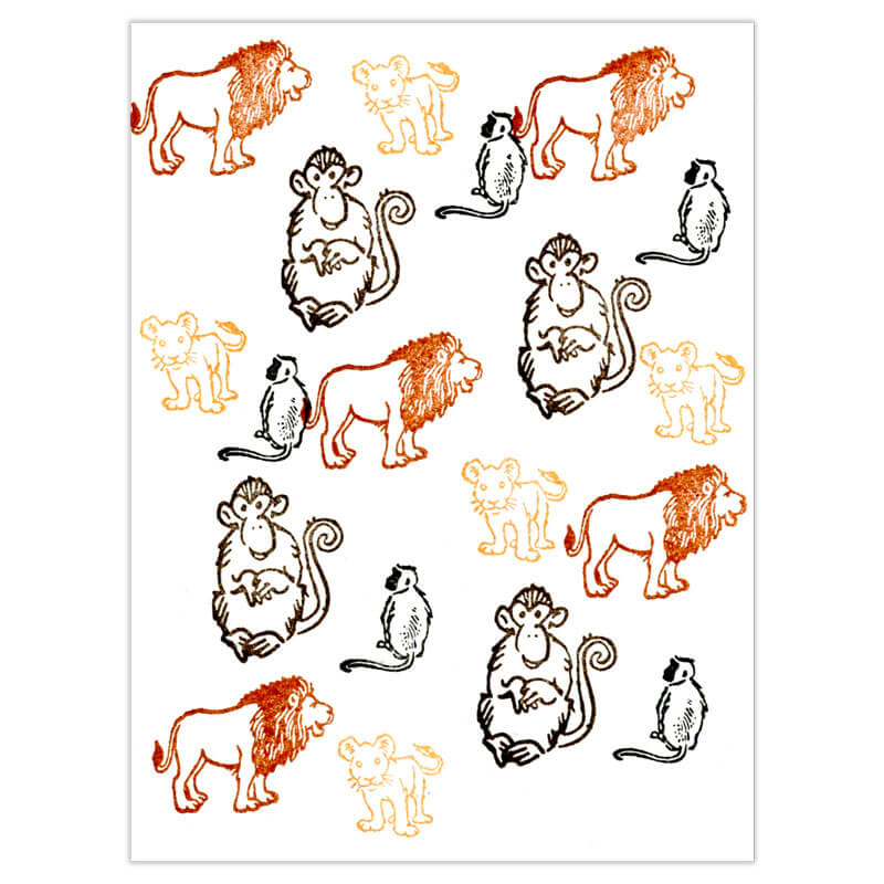 Lions and Monkeys Oh My! Peg Stamp Set by Rubber Stamp Tapestry