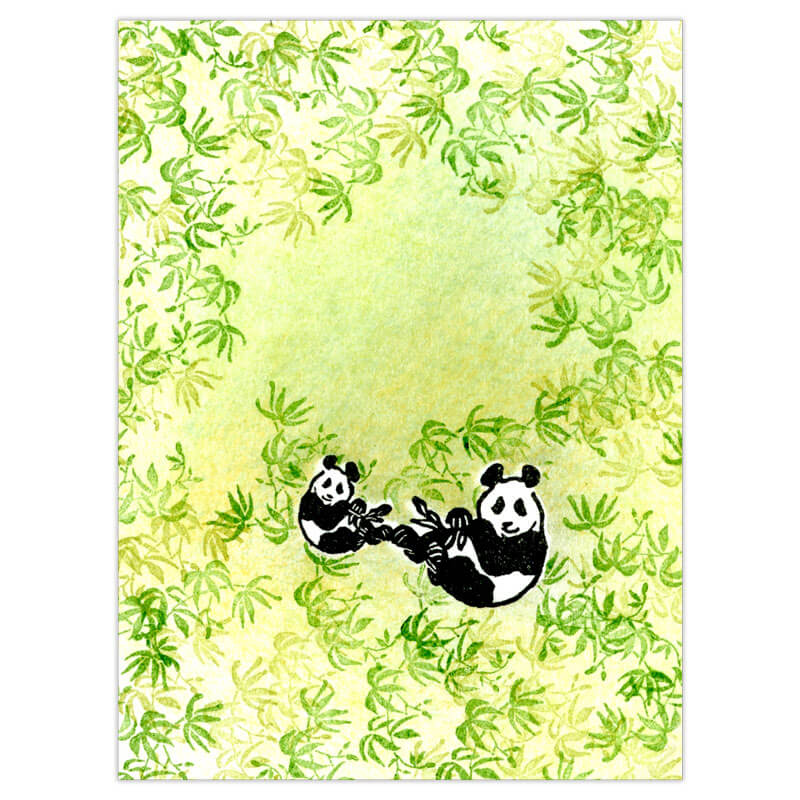 Bamboo Panda Peg Stamp Set by Rubber Stamp Tapestry