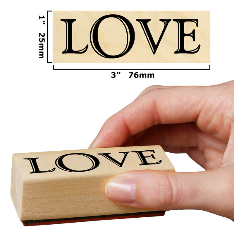 Love (Bold) by Rubber Stamp Tapestry