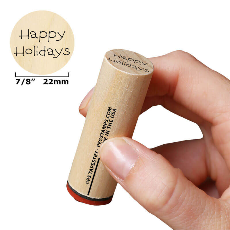 Happy Holidays (Script) by Rubber Stamp Tapestry