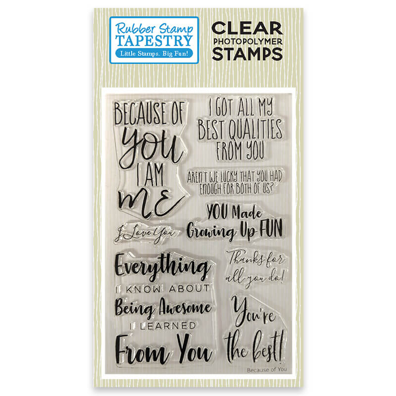 Because of You - Clear Stamp Set