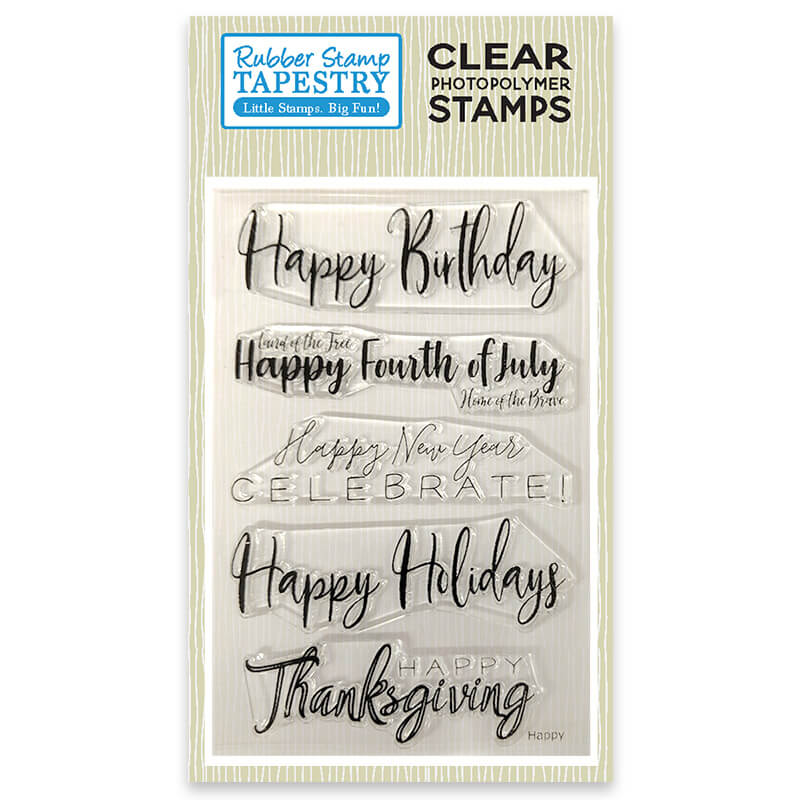 Happy - Clear Stamp Set
