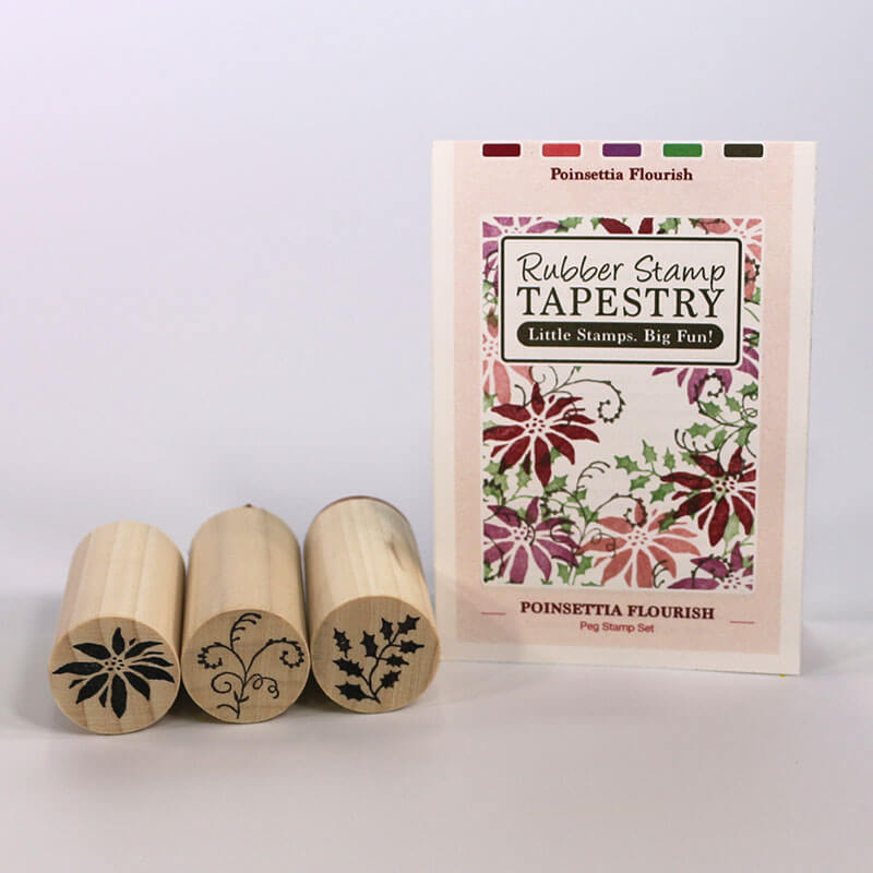 Poinsettia Flourish by Rubber Stamp Tapestry
