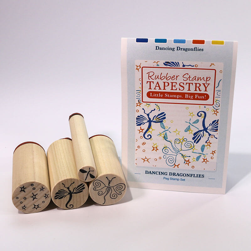 Dancing Dragonflies by Rubber Stamp Tapestry