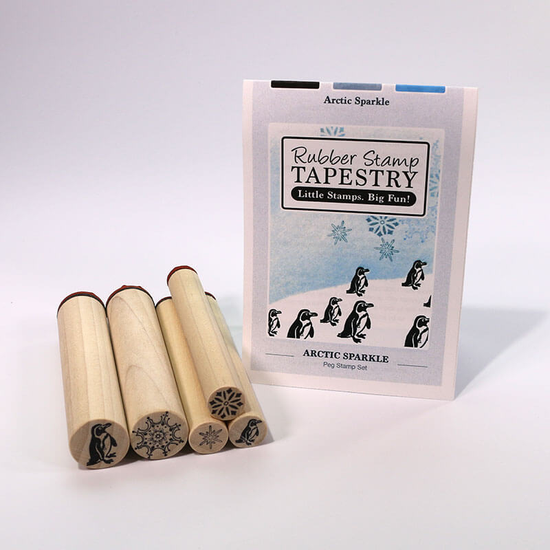 Arctic Sparkle  Peg Stamp Set by Rubber Stamp Tapestry