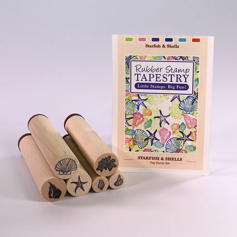 Starfish and Shells by Rubber Stamp Tapestry