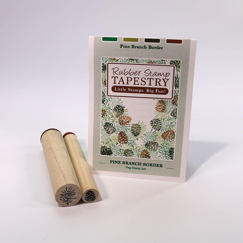 Pine Branch Border by Rubber Stamp Tapestry