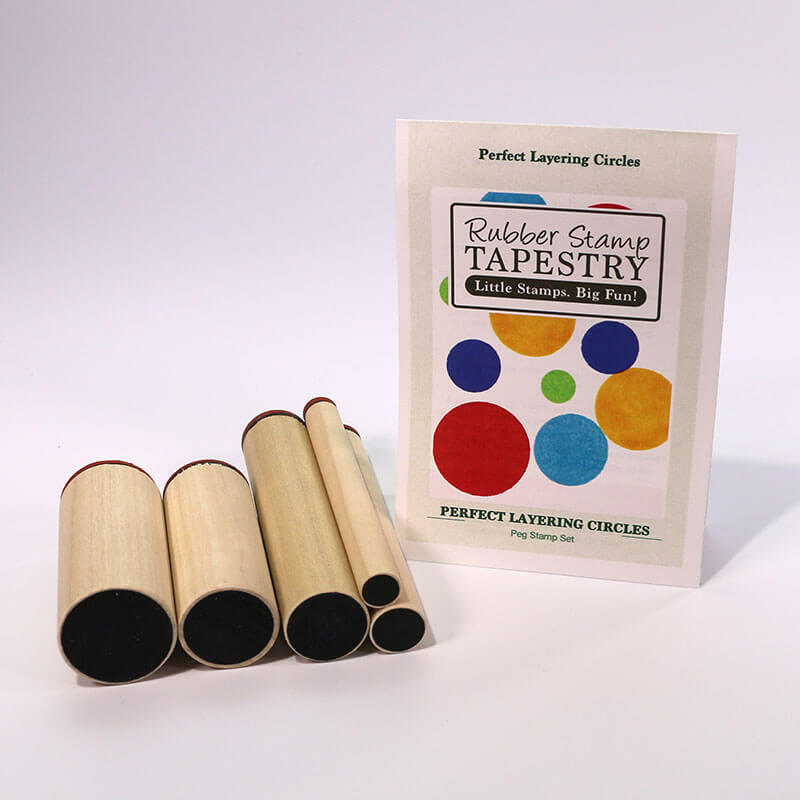Perfect Layering Circles Peg Stamp Set by Rubber Stamp Tapestry