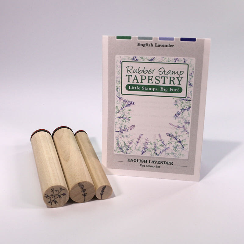 English Lavender Peg Stamp Set by Rubber Stamp Tapestry