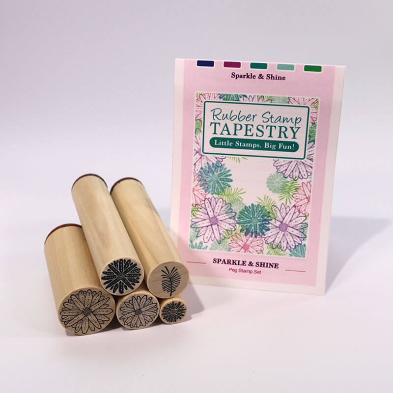 Sparkle & Shine Peg Stamp Set by Rubber Stamp Tapestry