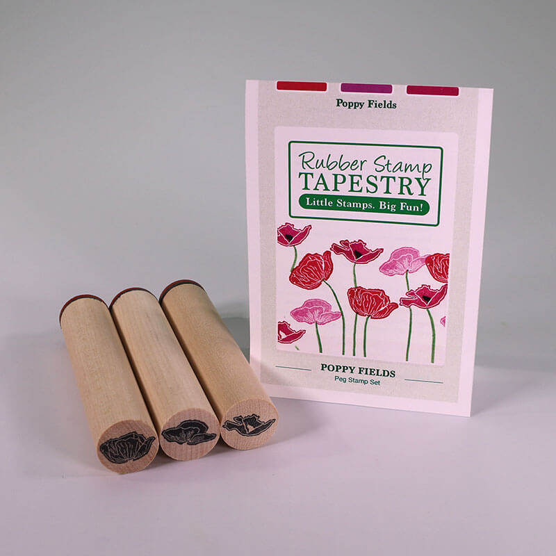 Poppy Fields by Rubber Stamp Tapestry