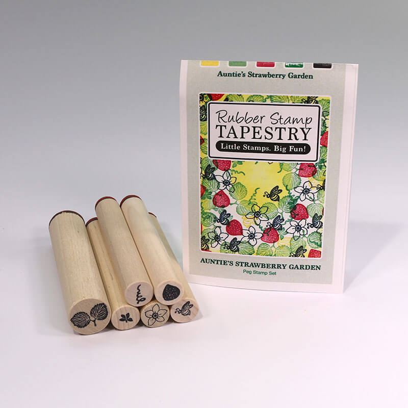 Auntie's Strawberry Garden by Rubber Stamp Tapestry