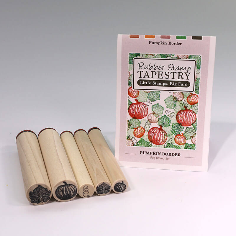 Pumpkin Border by Rubber Stamp Tapestry
