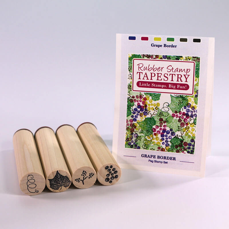 Grape Border by Rubber Stamp Tapestry