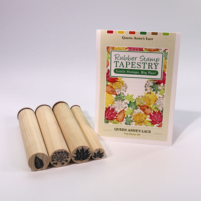 Queen Anne's Lace and Leaves by Rubber Stamp Tapestry