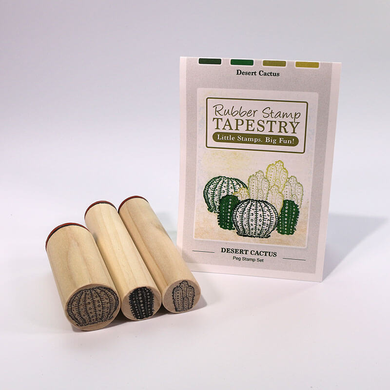 Desert Cactus Peg Stamp Set by Rubber Stamp Tapestry