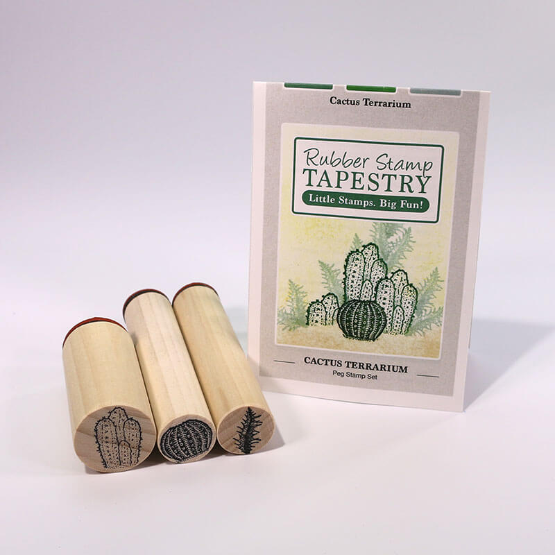 Cactus Terrarium by Rubber Stamp Tapestry