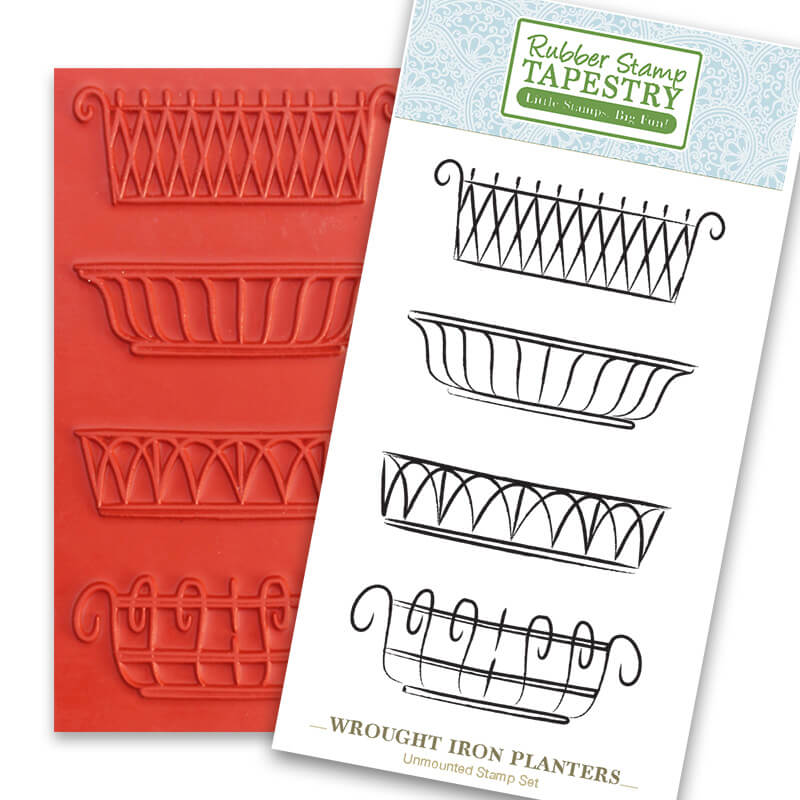 Windowboxes Unmounted Rubber Sheet by Rubber Stamp Tapestry