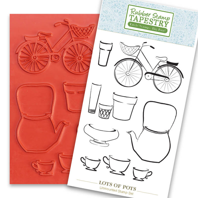 Lots of Pots Unmounted Rubber Sheet by Rubber Stamp Tapestry