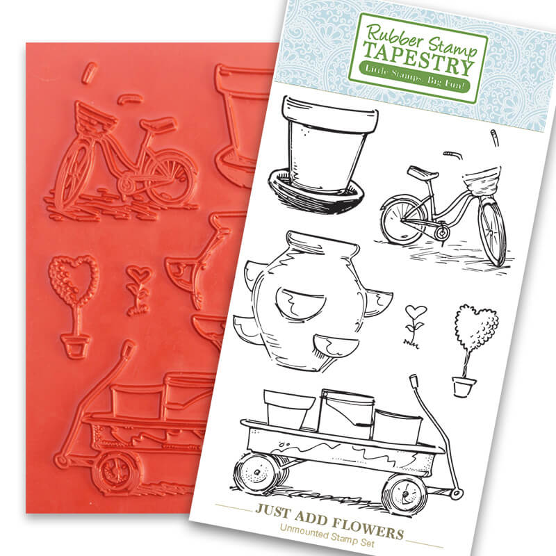 Just Add Flowers Unmounted Rubber Sheet by Rubber Stamp Tapestry