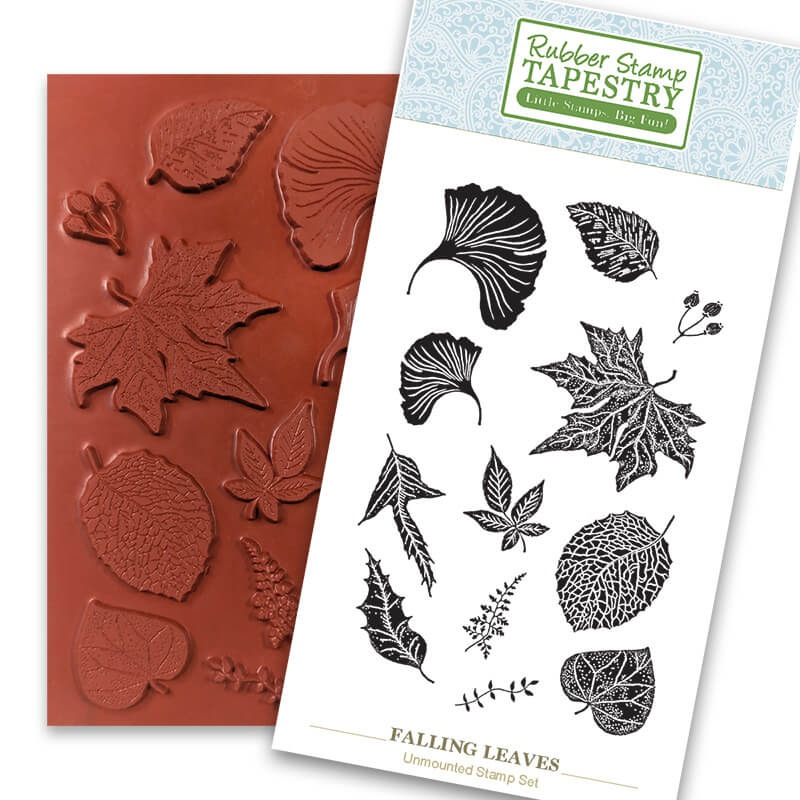 Falling Leaves Unmounted Rubber Sheet by Rubber Stamp Tapestry