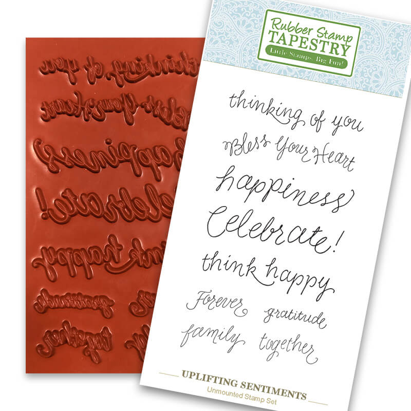 Uplifting Sentiments Unmounted Rubber Sheet by Rubber Stamp Tapestry