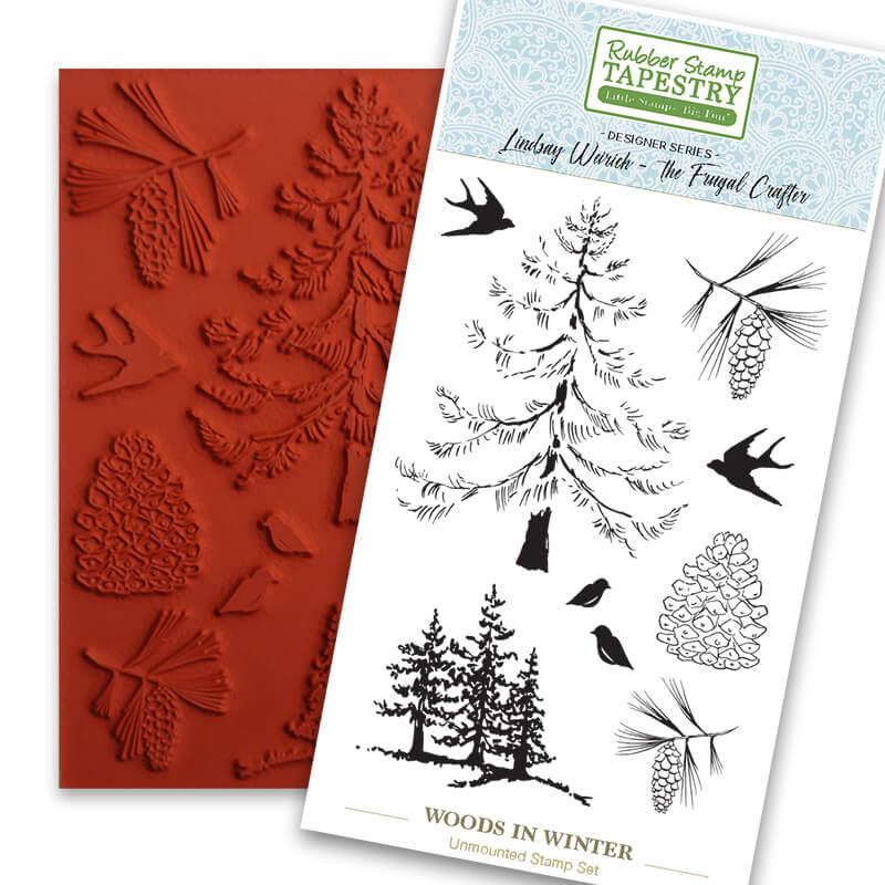 Woods in Winter Unmounted Rubber Sheet by Rubber Stamp Tapestry