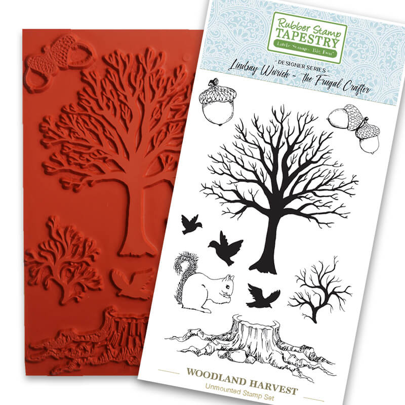 Woodland Harvest Unmounted Rubber Sheet by Rubber Stamp Tapestry
