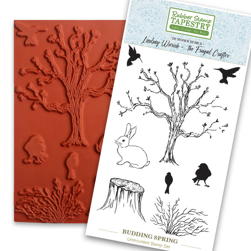 Budding Spring Unmounted Rubber Sheet by Rubber Stamp Tapestry