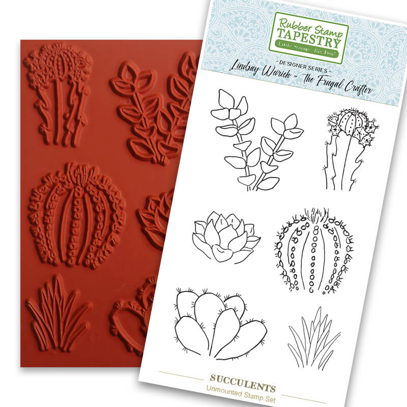 Succulents Unmounted Rubber Sheet by Rubber Stamp Tapestry