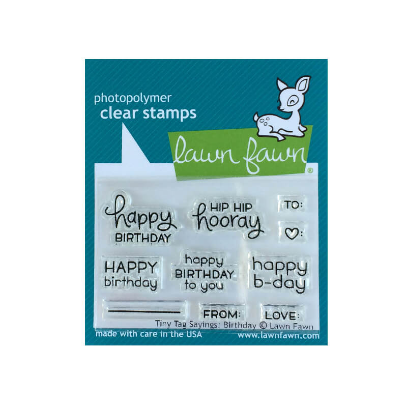 Lawn Fawn - Tiny Tag Sayings: Birthday - Clear Stamp Set