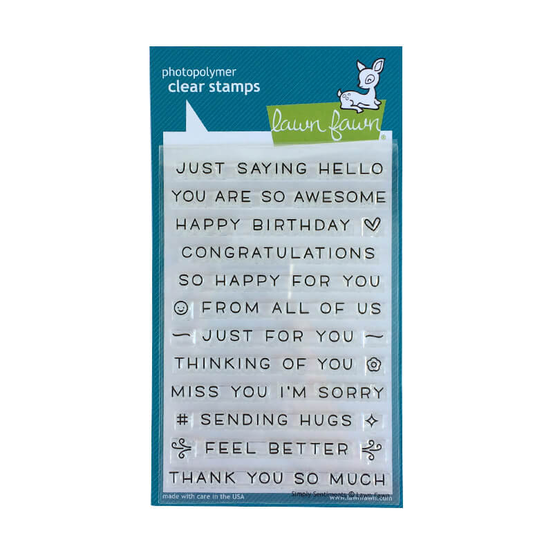 Lawn Fawn - Simply Sentiments Clear Stamps  - Clear Stamp Set